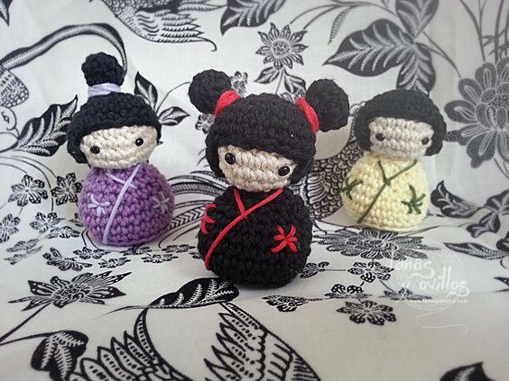Free Amigurumi Crochet Pattern : Kokeshi Japanese Doll ...