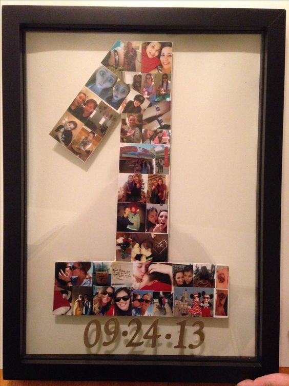My first pinterest project my wonderful mom helped me for Gift ideas for 1 year wedding anniversary