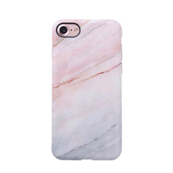 Marble Case for iPhone 7 - Smoked Coral
