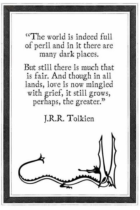 Tolkien - He started reading him around age 7. I now think I should have delayed mature reading a bit longer.: