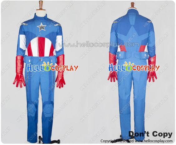 The Avengers Captain America Costume Full Set