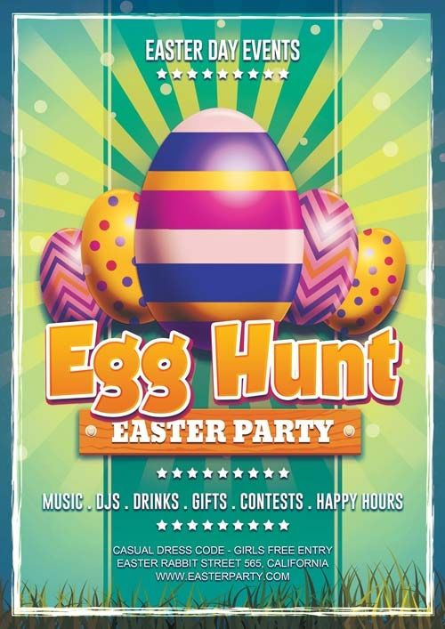 Easter Party Flyer Templates