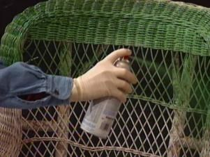 DIYNetwork.com experts demonstrate how to make a wicker chair look new again.