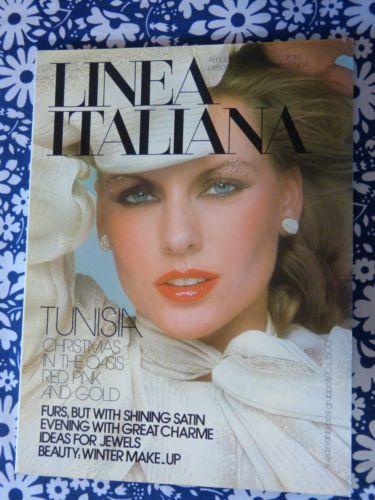 Magazine-mode-femme-LINEA-ITALIANA-decembre-1975-hiver-noel-vintage-annees-70 / LINEA ITALIANA women's fashion magazine - December 1975 winter Christmas issue - French 70s vintage