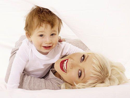 Christina Aguilera and her son Max