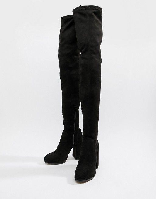 cozy fresh new york on sale ASOS DESIGN | ASOS DESIGN Wide Leg Kassidy heeled thigh high boots ...