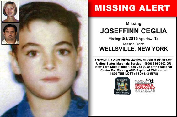 JOSEFFINN CEGLIA, Age Now: 13, Missing: 03/01/2015. Missing From WELLSVILLE, NY. ANYONE HAVING INFORMATION SHOULD CONTACT: United States Marshals Service 1-(800) 336-0102 OR New York State Police 1-585-268-9030.