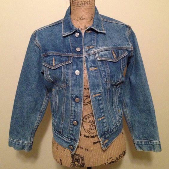 Calvin Klein Jean jacket Denim jacket. Great condition. Size P. Calvin Klein Jackets & Coats Jean Jackets