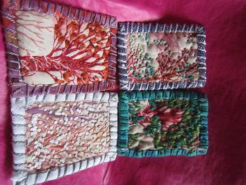 teesha moore style patches made by craftsunderground on craftster.  the four seasons!: Tree Patches, Craft Swaps, Patch Swap, Moore Patch, Craft Ideas