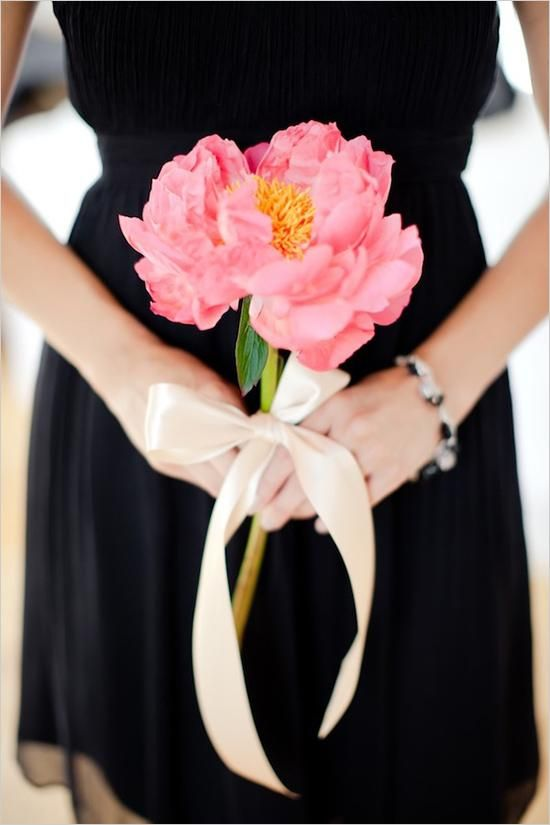 Unique and budget-friendly idea: Peony wedding bouquet:
