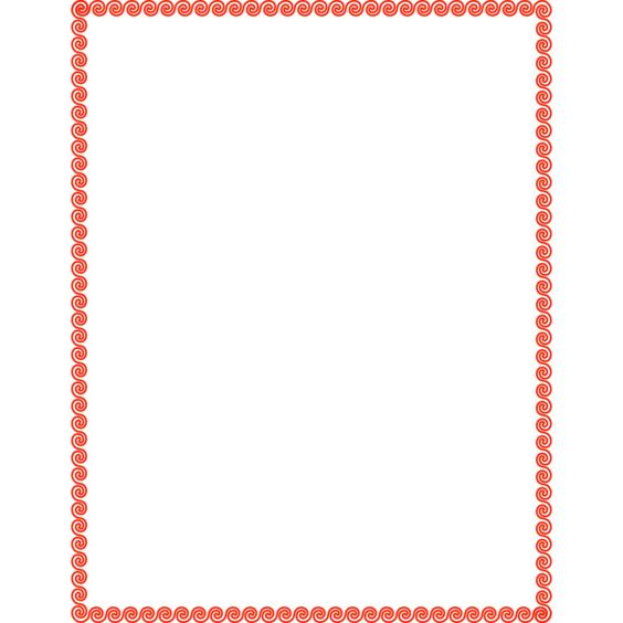 wave scroll border red -... ❤ liked on Polyvore featuring frames, borders, frames and borders, backgrounds and picture frame