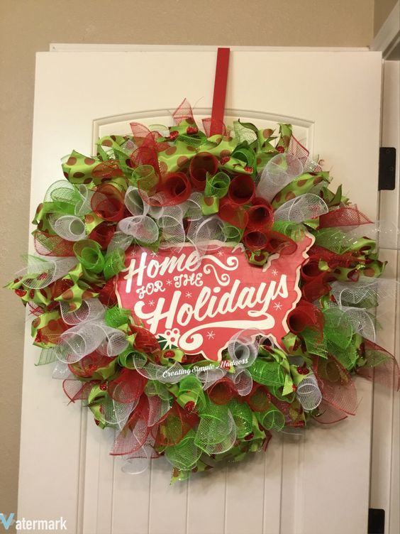 A personal favorite from my Etsy shop https://www.etsy.com/listing/482268346/home-for-holidays-wreath