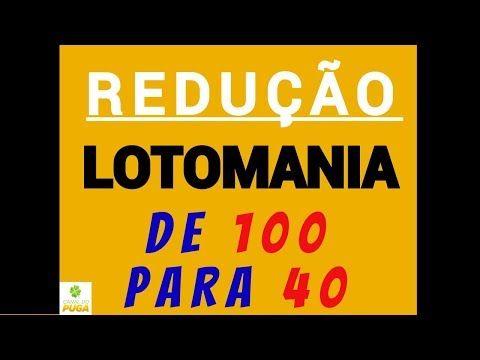 Lotomania 100 Dezenas Combinadas Em Grupos De 40 Youtube