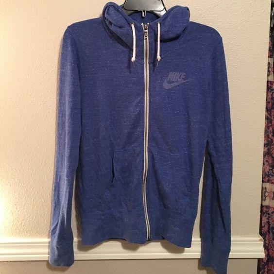 Nike gym class hoodie Royal blue heathered gym class hoodie. Barely worn Nike Jackets & Coats