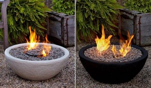 Outdoor Fireplace Pebbles : Outdoor ventless fire bowl the great thing about this is