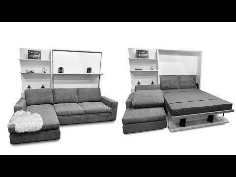 Compatto Shelf Wall Bed Over Sectional Sofa Sectional Sofa Sectional Sofa Comfy Folding Sofa Bed
