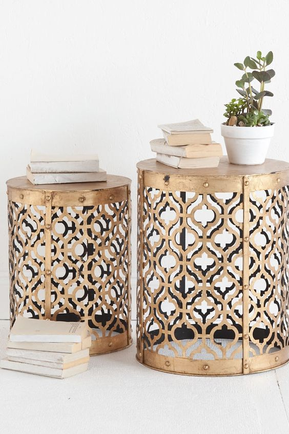 Metals Inspiration And Side Tables On Pinterest