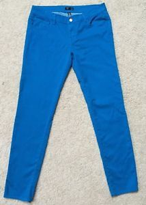*AQUA BRAND* Women's Aqua Blue Skinny Ankle Jeans Pants Size 30