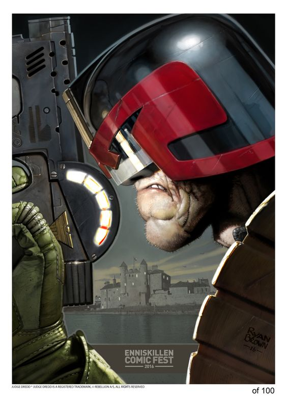 this was a limited edition comic con print i digitally painted for charity Www.ryanbrown-art.com #2000ad #judgedredd #ryanbrownart