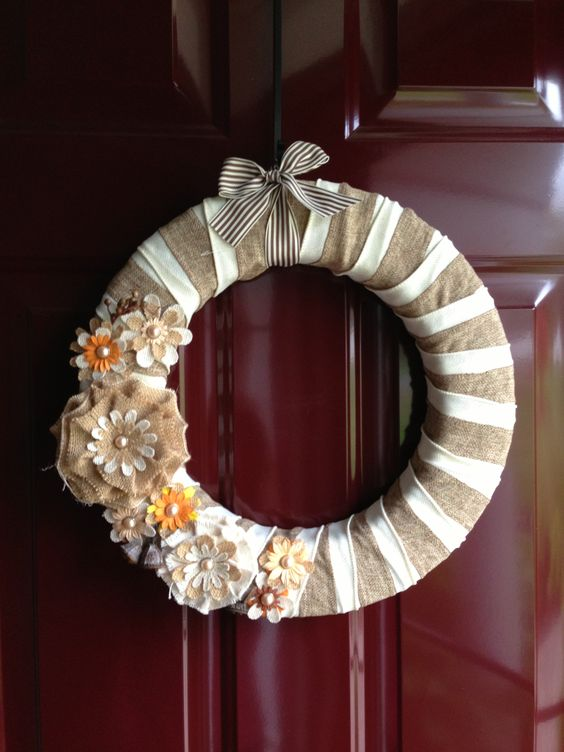 Autumn Burlap Wreath Home Decor Pinterest Wreaths