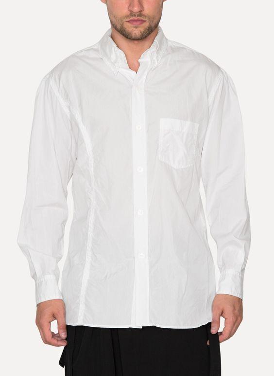 Collar Chain Stitch Shirt - Yohji Yamamoto Pour Homme