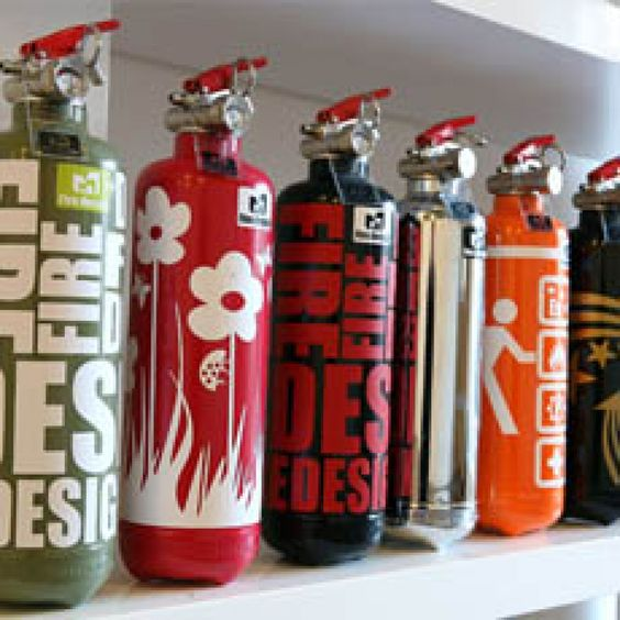 fire design fire extinguishers great housewarming gifts stencils. Black Bedroom Furniture Sets. Home Design Ideas