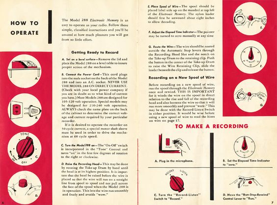 1965 manual for the roberts 400X reel tape recorder in Phantom - operation manual