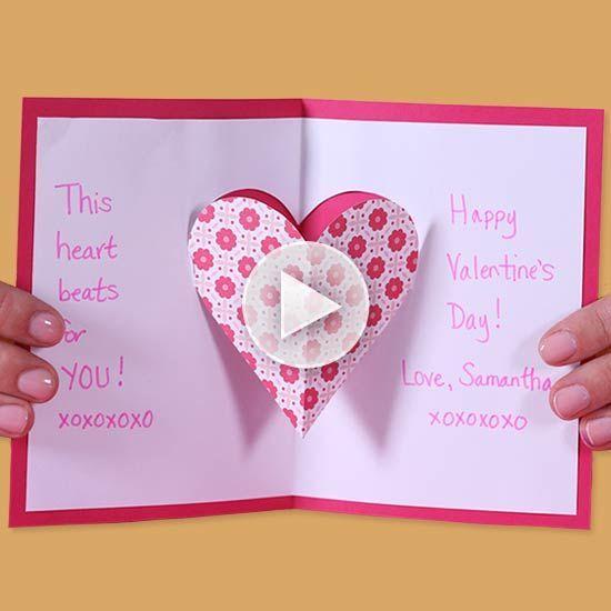 Pop Up Valentine Card For Kids Valentinecard In 2020 Pop Up