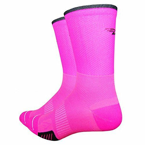 DeFeet Cyclismo 5in Socks Hi-Vis Pink, L - Men's - http://ridingjerseys.com/defeet-cyclismo-5in-socks-hi-vis-pink-l-mens/