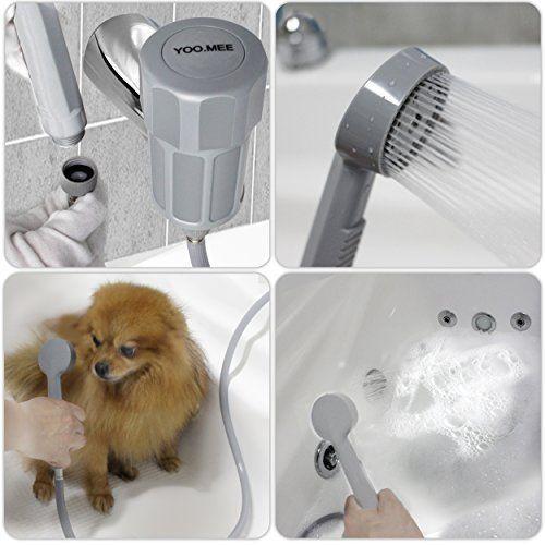 Dog Shower Spray Hose Pet Bathtub Attachment Hairwash Clean Tub