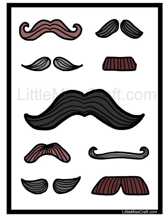 Fun mustache coloring page! Print at http ...