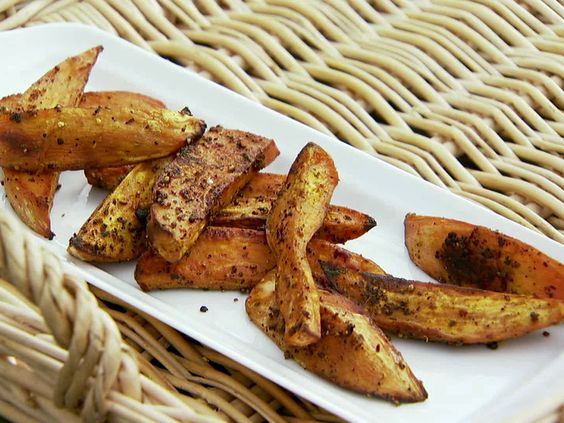 "Ina's Baked Sweet Potato ""Fries"" with La Boite Spice Mix: Sweet Potato Fries, Side Dishes, Baked Sweet Potatoes, Barefoot Contessa, Potatoes Yams, Healthy Side, Ina Garten, Garten Foodnetwork"