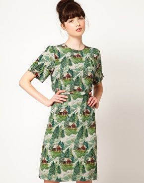 peter jensen / lodge print dress