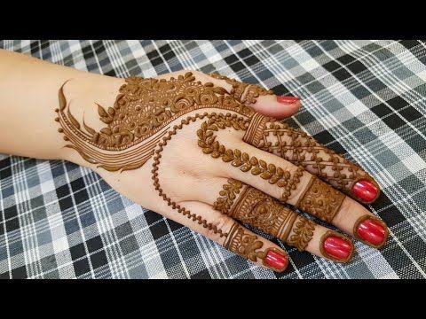 new arabic mehndi design back side