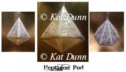 Heptagon Pod SVG Cutting Machine File - £3.00 : Instant Card Making Downloads