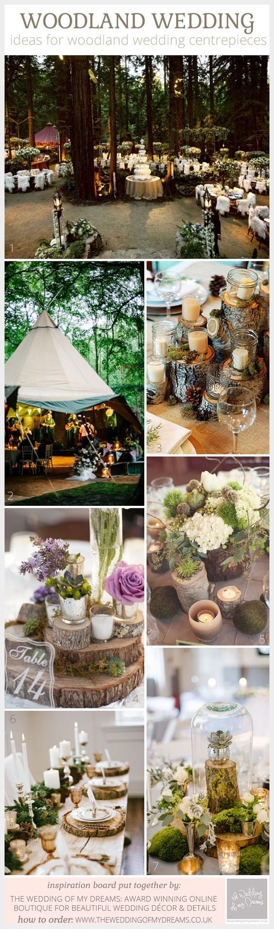 Discover These Amazing Woodland Wedding Centrepiece Ideas: Ideas for woodland wedding centrepieces