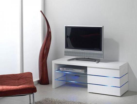 vente vintage touch 25461 salon meubles tv meuble tv 2 tiroirs cosma blanc et naturel deco pinterest - Meuble Tv Blanc Glossy