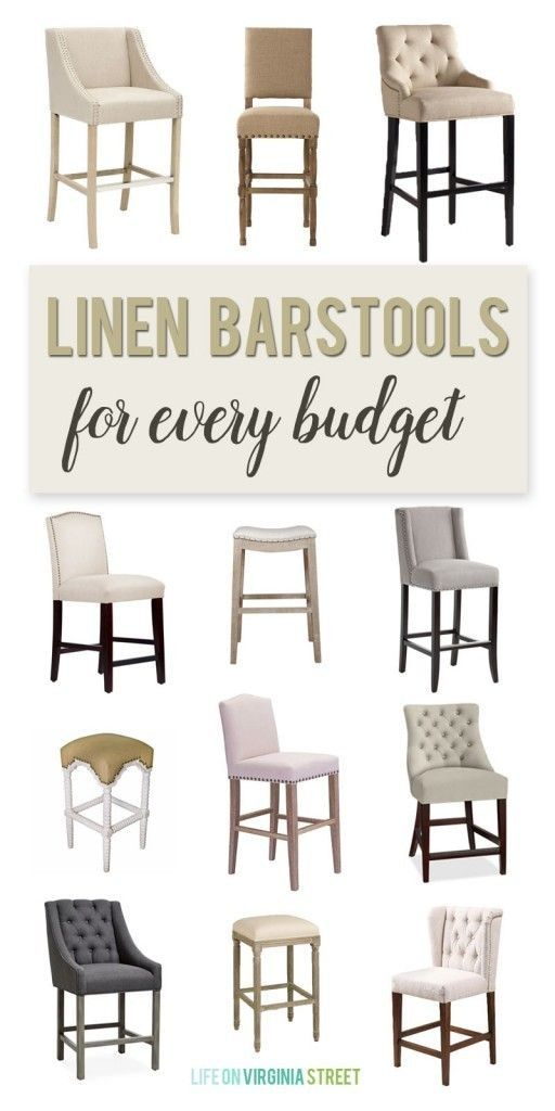 Linen Barstools for Every Budget via Life On Virginia Street