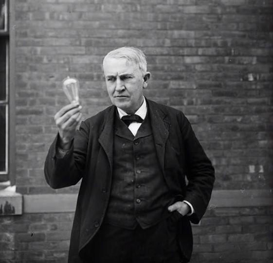 1917 Tomas Alba Edison En Nueva York Tomas Edison Imagenes Historicas Fotografia
