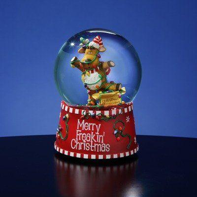 "Amazon.com: ""Merry Freakin' Christmas"" Snow Globe: Furniture & Decor"