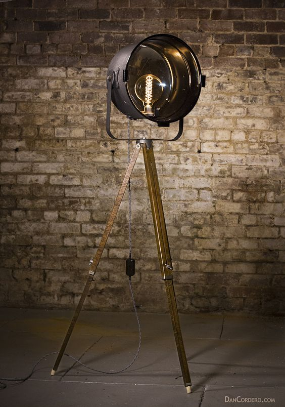 Vintage Theater Stage Light Floor Lamp Theater