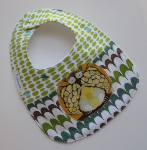 Opal the Owl for Lunch Baby SoakProof Bib by Babiease on Etsy, $12.00