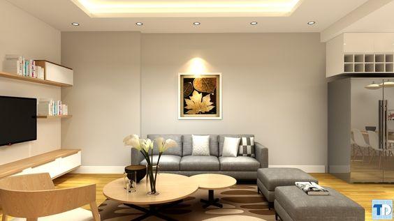 Nội thất phòng khách căn hộ chung cư đẹp