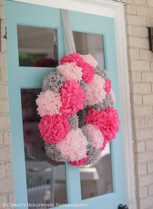 DIY pom wreath