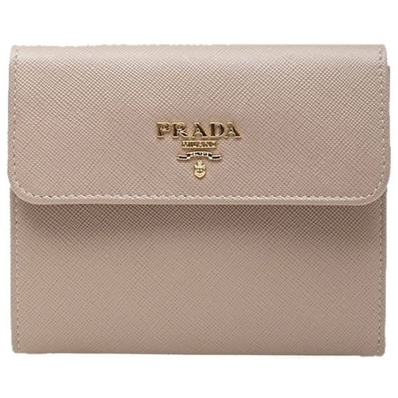 Pre-owned Nude Prada Wallet ($481) ❤ liked on Polyvore