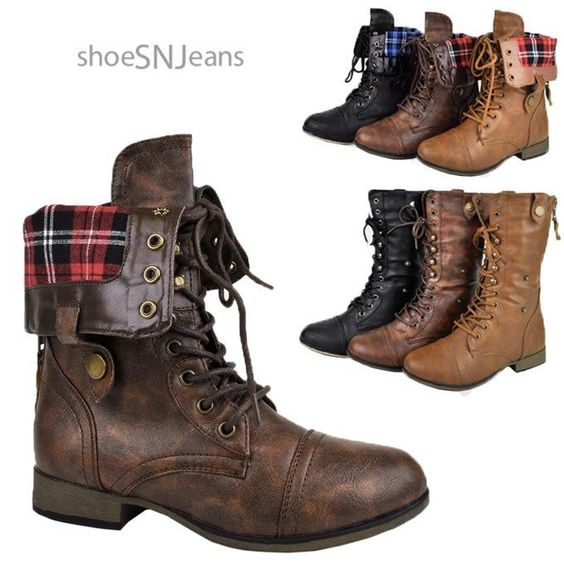 Brown Combat Boots Women - Cr Boot