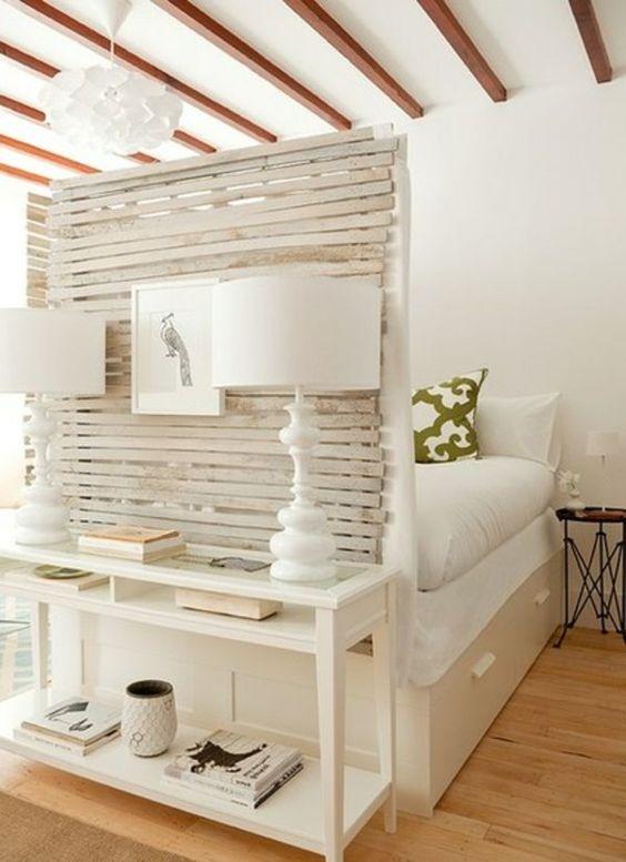 Kunstvolle Einzimmerwohnung - Harmonie in einem Brookliner Apartment - http://cooledeko.de/wohnideen/einzimmerwohnung.html