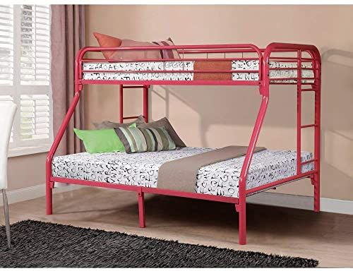 Chic Donco Kids 4502 3 Tfhp Metal Bunk Bed Twin Full Hot Pink Furniture 354 65 Wouldtopshopping From Top Metal Bunk Beds Kids Bunk Beds Bunk Bed Designs