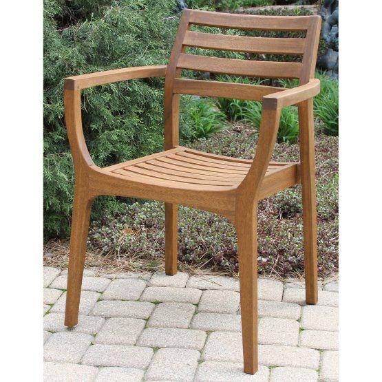 16++ Set of 4 stacking eucalyptus wood dining chair Various Types