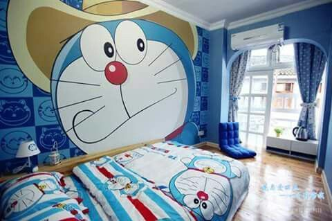 Wallpaper Dinding Kamar Tidur Doraemon Just To Search On This Site Kami Memilih Gambar Terbaikwallpaper In 2020 Kids Bedroom Designs Kids Bedroom Kids Bedroom Design
